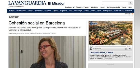 La Fundació Cuina Justa, en un debat sobre cohesió social de La Vanguardia