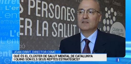 Entrevista de TVE al director del Clúster de Salut Mental de Catalunya, Joan Orrit