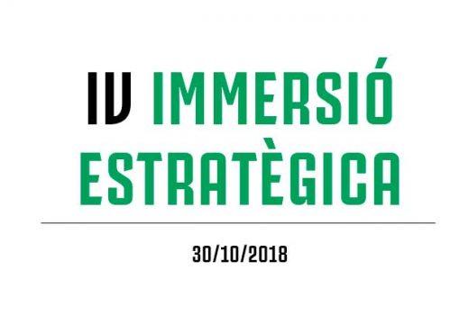 La IV Immersió Estratègica es celebrarà el dimarts 30 d'octubre amb un acte especial