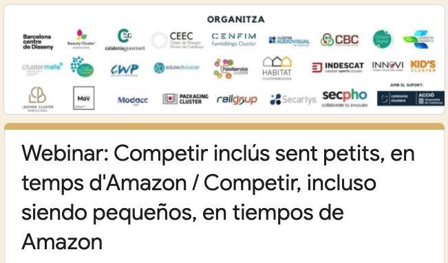 Webinar 4 - Competir, incluso siendo pequeños, en tiempos de Amazon
