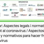 Webinar 5: Aspectos legales y normativos para hacer frente al coronavirus