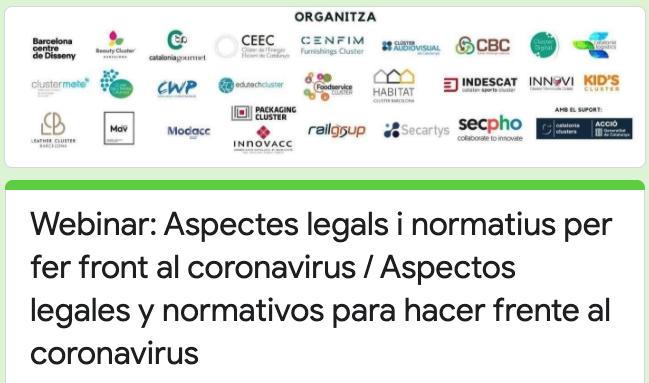 Webinar 5 - Aspectos legales y normativos para hacer frente al coronavirus